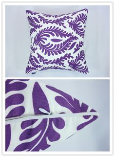 Ikat Style Cushion Cover with Piping
