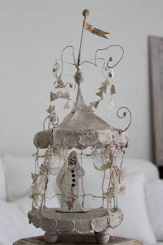 French CIRCUS Tent..Wire art Clown PARIS Ephemera by BurlapLuxe, $310.00  Is this NOT beautiful?