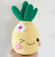 Happy Pineapple amigurumi pattern by Super Cute Design