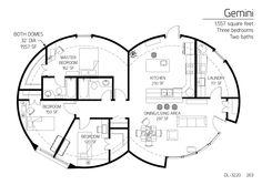 1,557 square feet Three bedrooms Two baths
