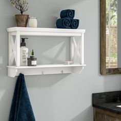 Affordable Perry Park Wall Shelf By Laurel Foundry Modern Farmhouse Corner Wall Shelves, Cube Shelves, Bathroom Shelves, Display Shelves, Bathroom Beadboard, Shelf Wall, Regal Display, Wall Mirrors Set, Mirror Set