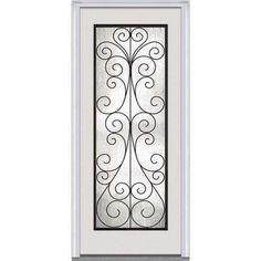 Reliabilt Hampton 3 4 Deco Oval Glass Exterior Door