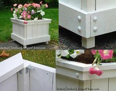 Best selection of free woodworking DIY plans for building a square planter box. Square planters for every style and taste. Diy Wood Planter Box, Planter Box Designs, Bird Bath Planter, Square Planter Boxes, Planter Box Plans, Diy Planters, Porch Planter, Woodworking Projects For Kids, Diy Wood Projects