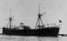 A fragata Numância, na versão com 3 mastros
