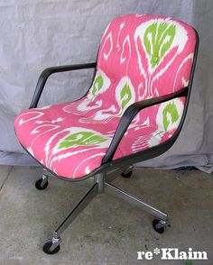 reupholstered 80's office chair
