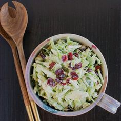Creamy Broccoli Stalk Slaw  Use a combo of Greek yogurt and milk to get a thick buttermilk-like dressing with