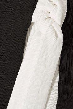 Rejina Pyo - Zoe Wrap-effect Pintucked Crepe Midi Skirt - Black
