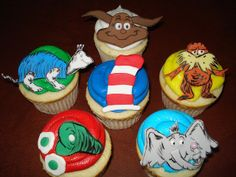 Dr. Seuss Cupcakes by Rachel from Cupcakes Take the Cake, via Flickr