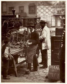 Photograph of locksmith by John Thomson, 1876