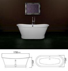 <span style='color: #000000;'>Tub Roll Top Bath (25B)</span>