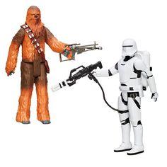 Pack 2 figuras Flametrooper y Chewbacca. Star Wars Episodio VII, Ultimate Deluxe 30cm Serie1, Hasbro Pack de 2 figuras correspondiente al Episodio VII: el despertar de la fuerza Star Wars, de los personajes de Chewbacca y el Soldado First Order Flametrooper
