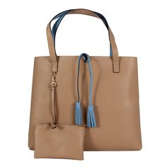 Street Level 7228 Reversible 2in1 Damen Shopper blue/tan