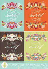 HOME SWEET HOME PRINTABLE | Free Pretty Printables