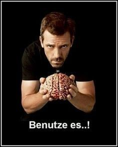 Where& the brain eating? Where& the brain eating? Man Humor, Memes Humor, Dr Who, Doctor House, Learn German, Thats The Way, True Words, Haha, Funny Pictures