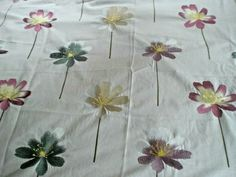 "HARLEQUIN EMBROIDERED FABRIC ""FLORA"" 120 X 142 CM COTTON BLEND #HARLEQUIN Harlequin Fabrics, Lampshades, Flora, Cushions, Cotton, Ebay, Throw Pillows, Lamp Shades, Cushion"