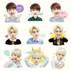 EXO Naver Stickers