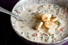 This milky chowder is filled with meaty bites of bacon and the subtle spice of Old Bay and peppery parsnips.