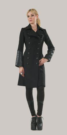 Huntress Coat in Lucifer black.  katvondlosangeles.com  Those cuffs rock!!