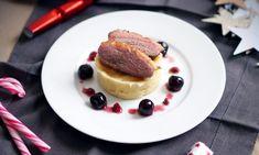 Recette : Magret de canard, cerises amarena, airelles et purée vanillée par Pretty Chef.fr