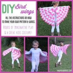 DIY Bird Wing Pattern - Handy for costumes!!! (And play-time, of course!)