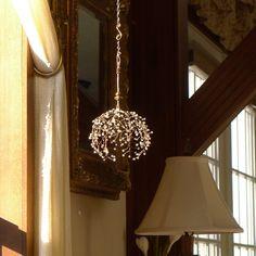 A Crystal Ball Sunshower Chandelier by BellStudios on Etsy