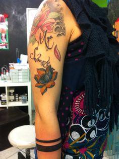 Fior di loto con fasce maori