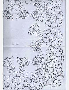This Pin was discovered by zeh Floral Embroidery Patterns, Cutwork Embroidery, Lace Patterns, Vintage Embroidery, Embroidery Stitches, Embroidery Designs, Candlewicking Patterns, Pencil Design, Lesage