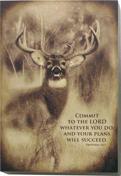 Canvas Succeed Whitetail Deer Wall Art deergear.com #LegendaryWhitetails