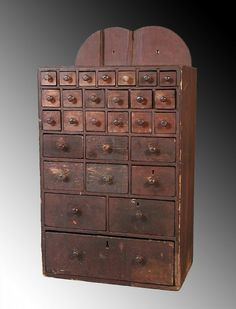Antique Primitive Spice Chest... | Primitive Cupboards | Pinterest | Primitives Drawers and Antique sewing machine table & Antique Primitive Spice Chest... | Primitive Cupboards | Pinterest ...
