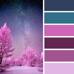 Mauve amethyst and teal color palette