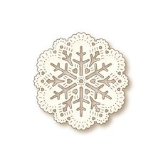 Wild Rose Studio Specialty Die: Snow Doily  Add elegance and charm to your projects with these metal dies. Create gorgeous diecuts to embellish your scrapbook layouts, handmade cards, and off the page or mixed media projects.  The Snow Doily design is the perfect choice when creating winter and holiday projects.  Made in the USA from 100% steel with a non-stick coating. Compatible with most die-cutting systems.  - Scraps of Darkness and Scraps of Elegance