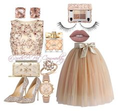 """""""@SuchAHotCommodity"""" by suchahotcommodity ❤ liked on Polyvore featuring Raishma, Jimmy Choo, Oscar de la Renta, Bloomingdale's, Carolee, Chicwish, Avon, Lime Crime and Michael Kors"""