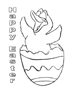 Hatched Chicken Broken Egg Coloring Pages : Best Place to