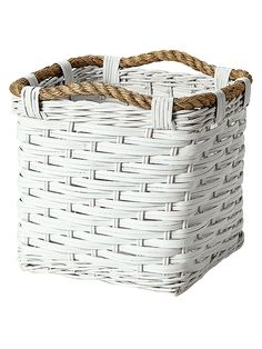 Small Rope Cubby from Serena & Lily: Bathroom on Gilt