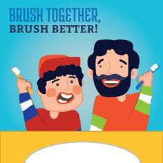 Dental Tip: BRUSH WITH your children until they are7-8 years old to make sure they're reaching even their hard-to-reach teeth!
