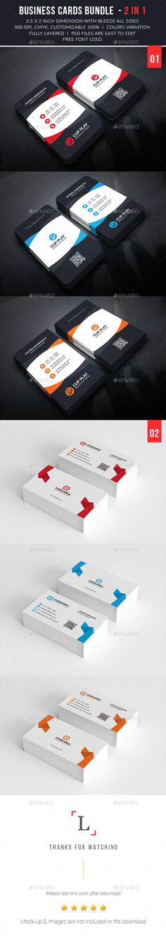Business Cards Bundle — Photoshop PSD #creative #print • Available here → https://graphicriver.net/item/business-cards-bundle/13476254?ref=pxcr