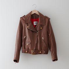 Mape Leather Moto Jacket  by ACNE