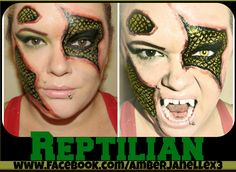 Reptilian Makeup - Halloween Makeup