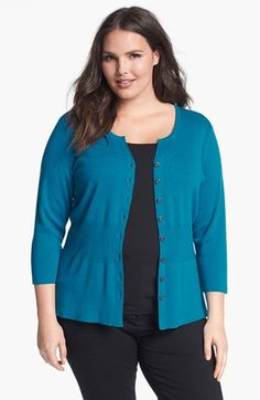 Nic + Zoe 'Back of the Chair' Cardigan (Plus Size) available at #Nordstrom