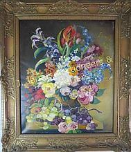 Herbert Sharrocks, Oil on Canvas, Still Life WWW.JJAMESAUCTIONS.COM