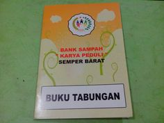 Trash Bank account book for customer :D
