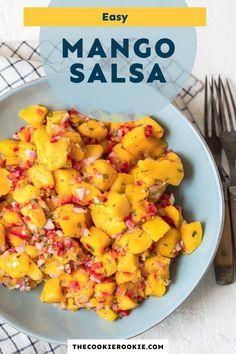 Mango Salsa Canning Recipe, Mango Salsa Recipes, Fruit Recipes, Summer Recipes, Mexican Food Recipes, Delicious Recipes, Mango Salsa Chicken, Fruit Salsa
