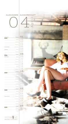 Rotwild Kalender April 2012