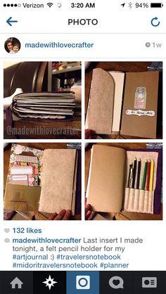 MIDORI: Accessory - Felt Pocket (left side) and Pencil Holder (right side) / Instagram.