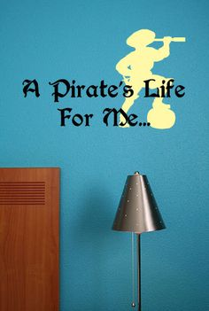 A pirate's life for me... - Vinyl Wall Quote Decal. $24.99, via Etsy. Pirate Quotes, Vinyl Wall Quotes, Pirate Life, Pirates, Decal, Holiday Quote, Etsy Christmas, Thanksgiving Holiday, Handmade Gifts