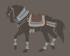 Tack Set Auction 3 - Closed by Tattered-Dreams on DeviantArt Horse Saddles, Horse Tack, Horse Drawings, Animal Drawings, Arte Equina, Horse Armor, Horse Costumes, Armadura Medieval, Tack Sets