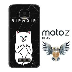 ripndip white cat with midle finger L0940 Motorola Moto Z Play Case