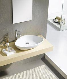 SAPHO - TERUEL keramické umývadlo, 58,5x14x39 cm, na dosku (BH7007) | Svet-kupelne.sk