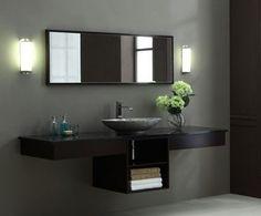 Photographic Gallery Dark Walnut Double Shelf Vanity From Xylem