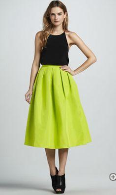 Hello Sunshine ! Wonderful Amy Smilovic skirt, available at Bergdorf Goodman.